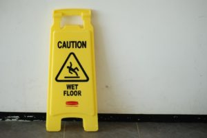 Caution Signs are used to help prevent slip and fall accidents.